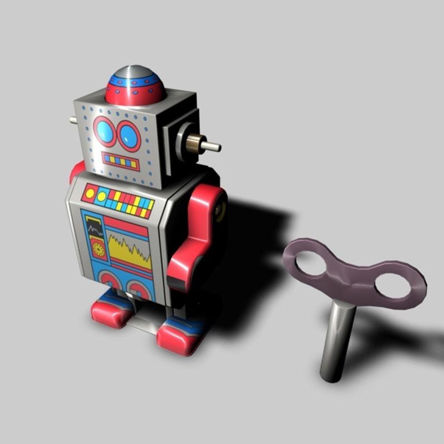 Robot de juguete royalty-free modelo 3d - Preview no. 3
