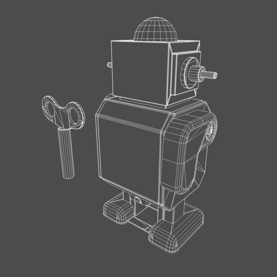 Robot de juguete royalty-free modelo 3d - Preview no. 8