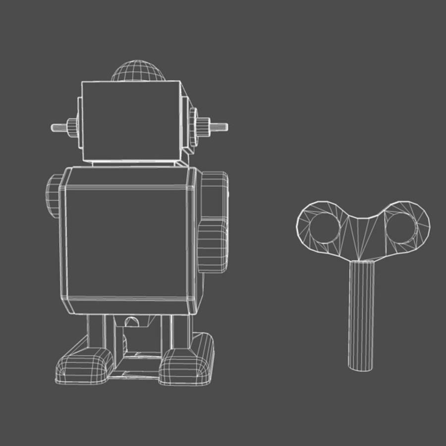 Robot de juguete royalty-free modelo 3d - Preview no. 6