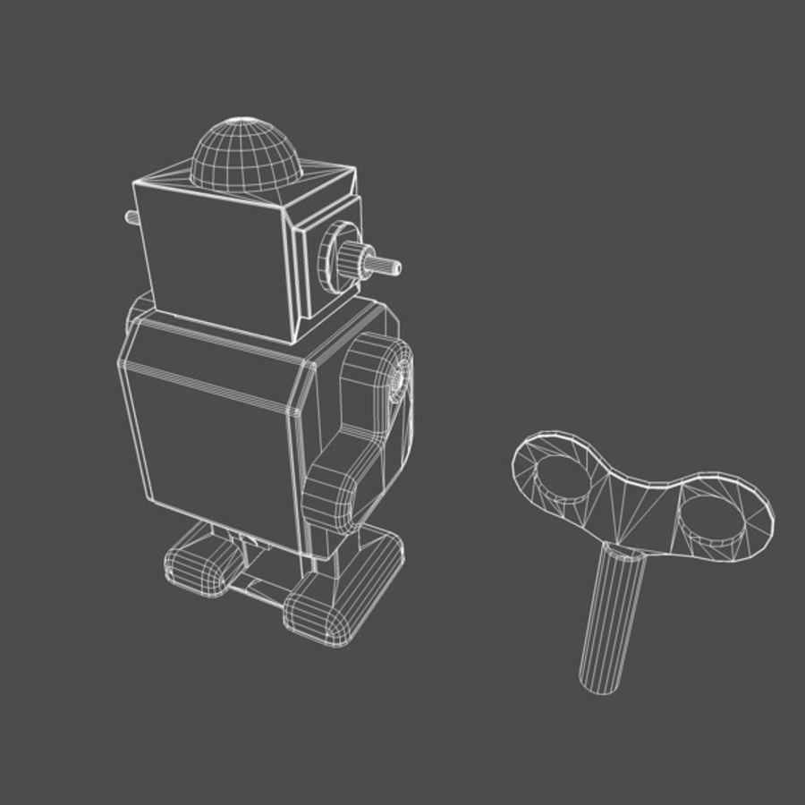 Robot de juguete royalty-free modelo 3d - Preview no. 4
