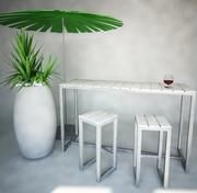Utemöbler-bar, Gandia Blasco 3d model