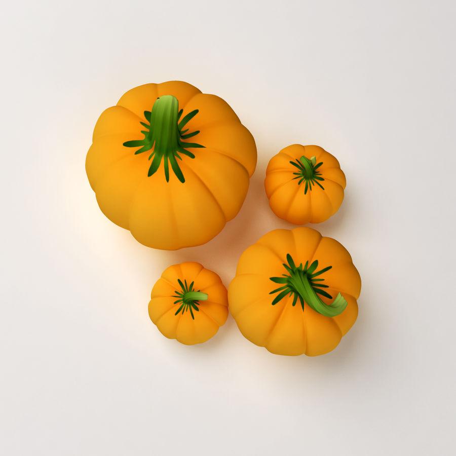 Pumpkins royalty-free 3d model - Preview no. 6
