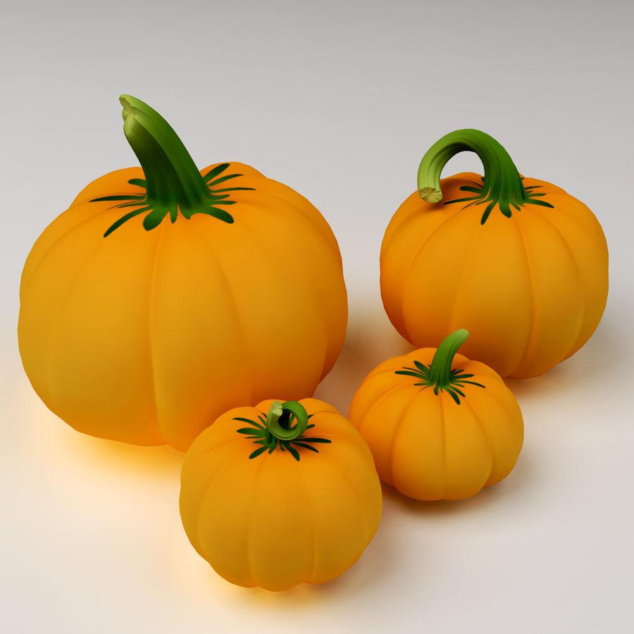 Pumpkins royalty-free 3d model - Preview no. 1