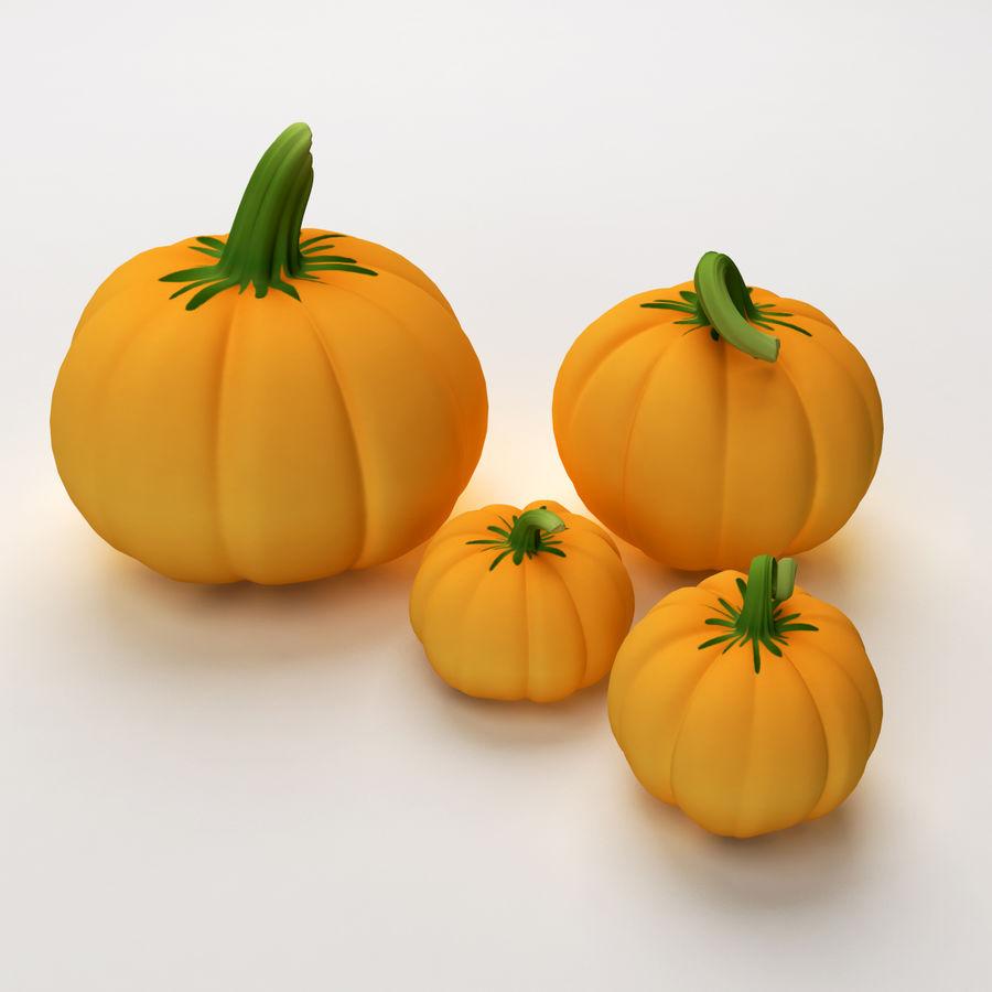 Pumpkins royalty-free 3d model - Preview no. 2