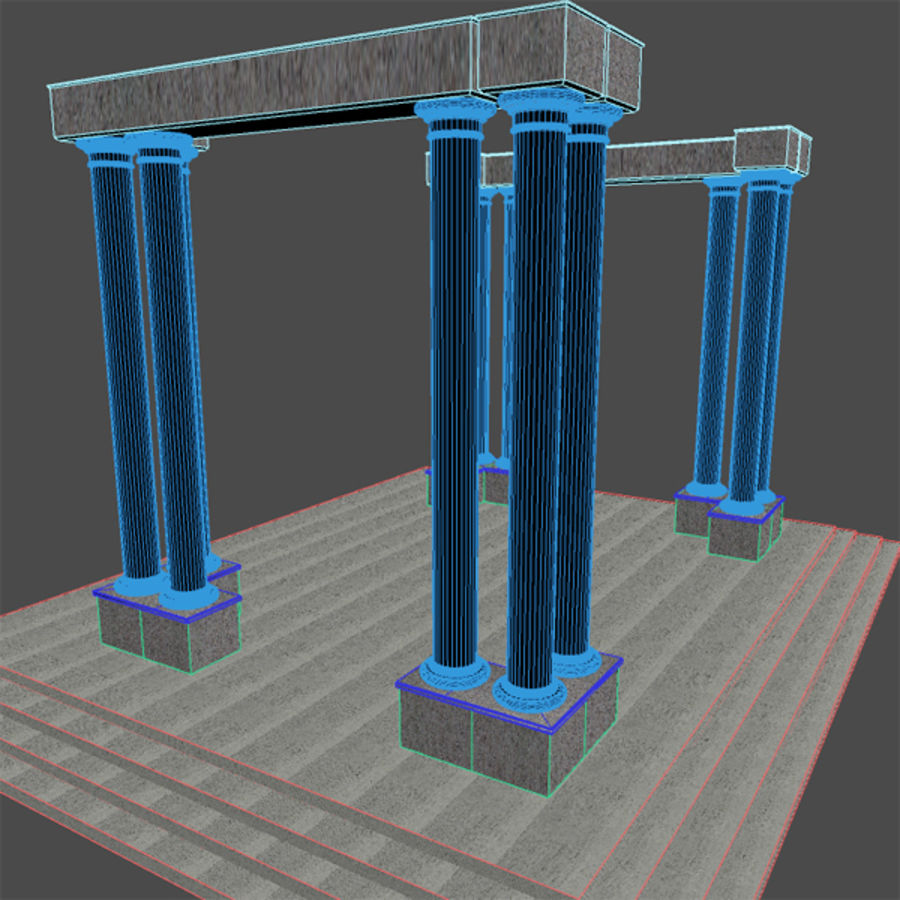 Columns 01 royalty-free 3d model - Preview no. 4