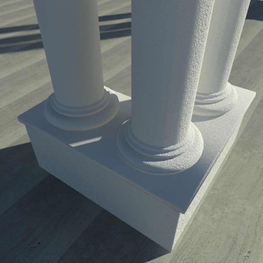 Columns 01 royalty-free 3d model - Preview no. 3