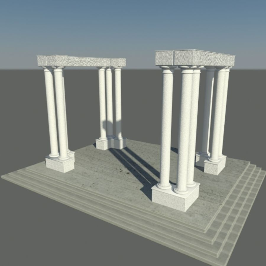 Columns 01 royalty-free 3d model - Preview no. 1