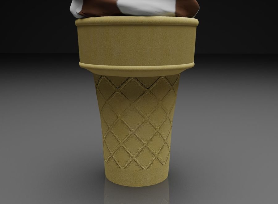 Ice Cream Cone royalty-free 3d model - Preview no. 4