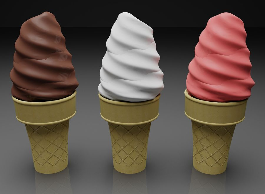 Ice Cream Cone royalty-free 3d model - Preview no. 1