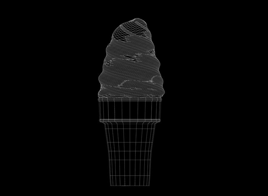 Ice Cream Cone royalty-free 3d model - Preview no. 6