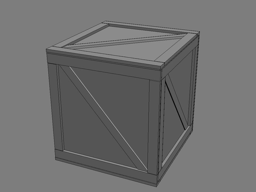 Wooden Crate - box container royalty-free 3d model - Preview no. 5