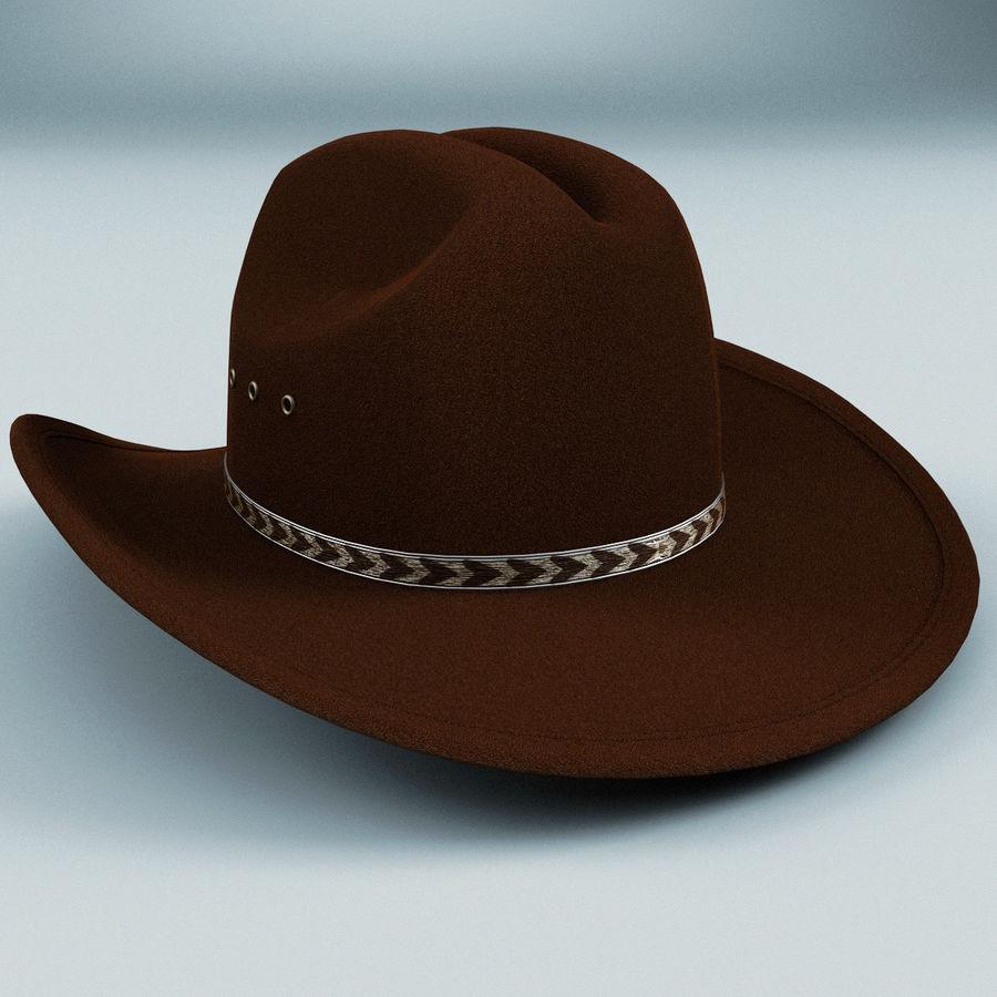 Sombrero de vaquero v3 Modelo 3D  24 - .xsi .obj .ma .lwo .c4d .3ds ... 866fc203a80