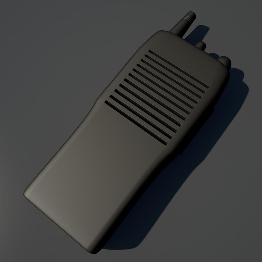 Walkie Talkie royalty-free 3d model - Preview no. 2