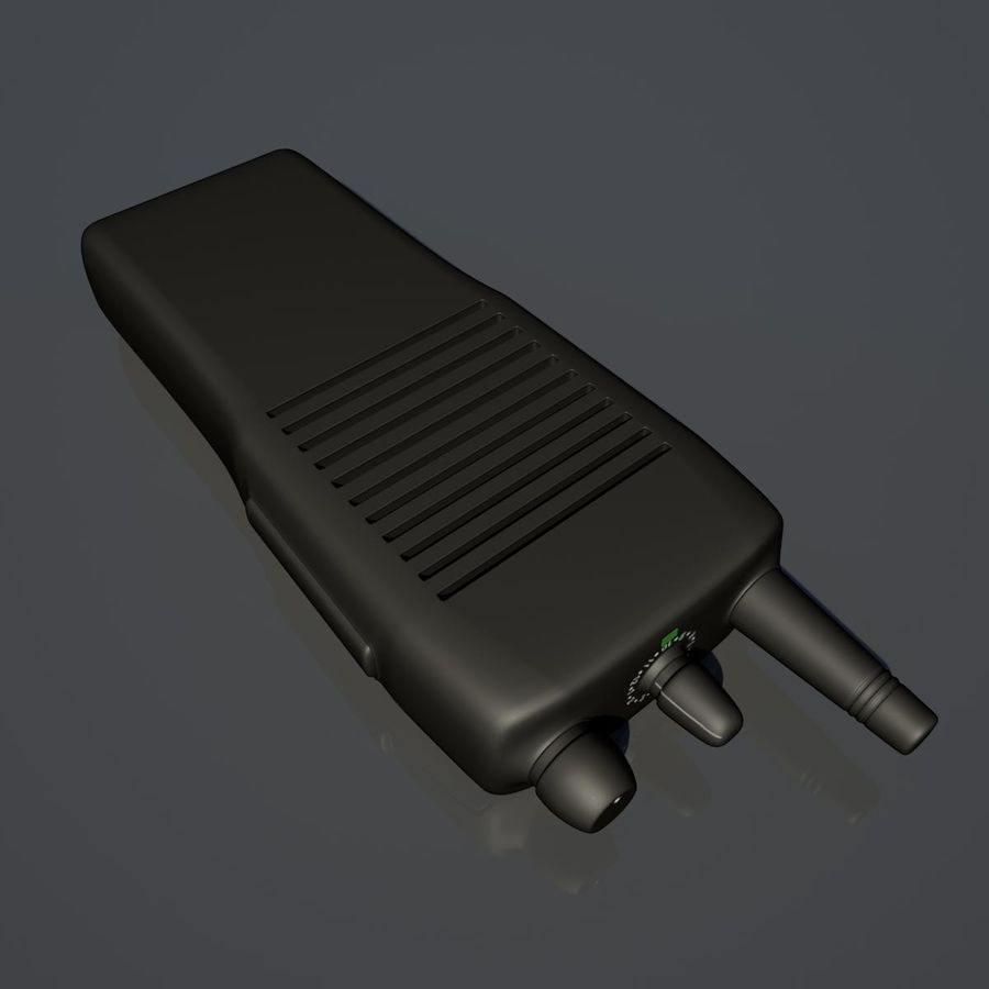 Walkie Talkie royalty-free 3d model - Preview no. 3