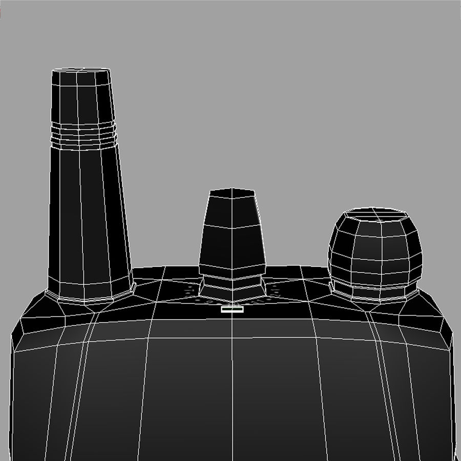 Walkie Talkie royalty-free 3d model - Preview no. 5
