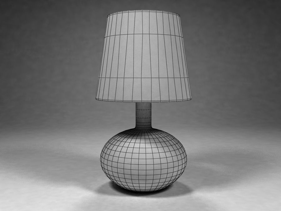Ikea Lamp 07 royalty-free 3d model - Preview no. 3