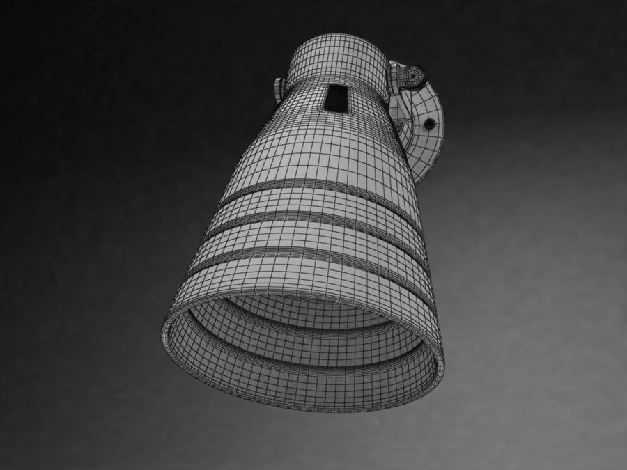 Ikea Lamp 08 royalty-free 3d model - Preview no. 6
