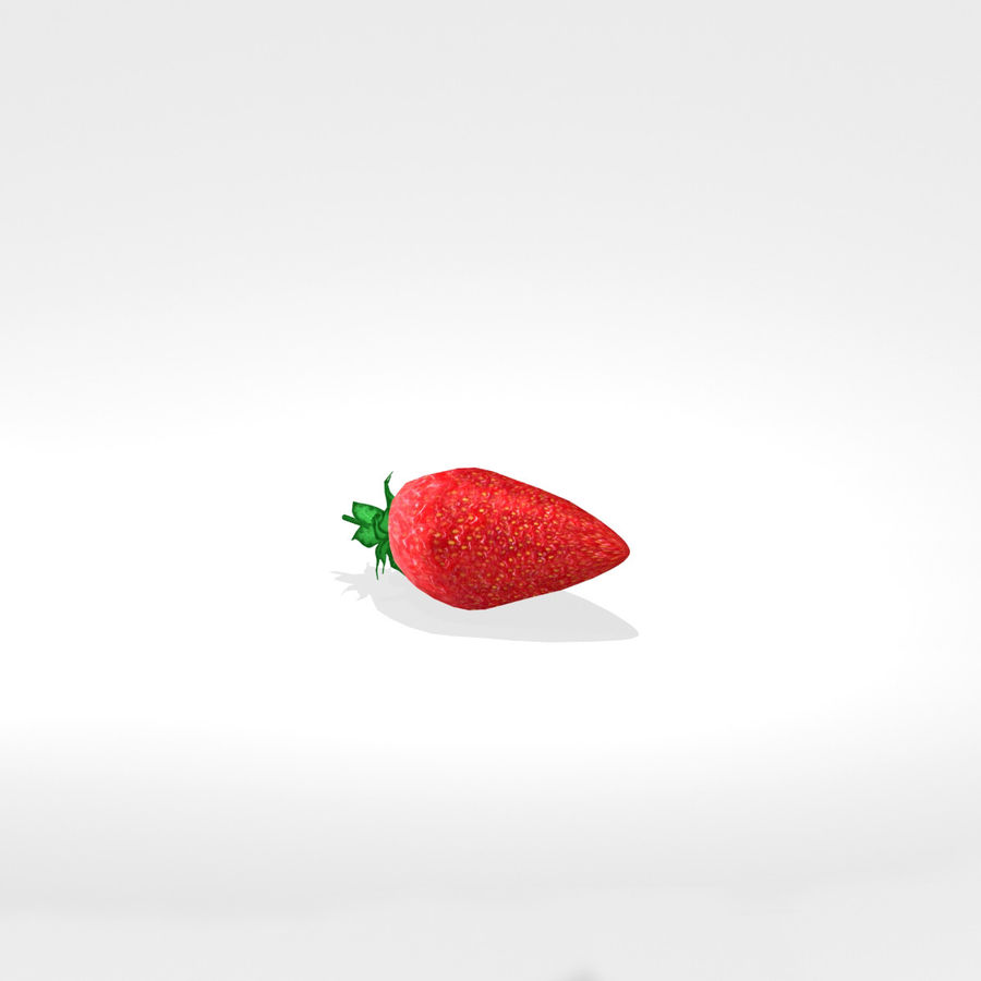 Strawberry royalty-free 3d model - Preview no. 2