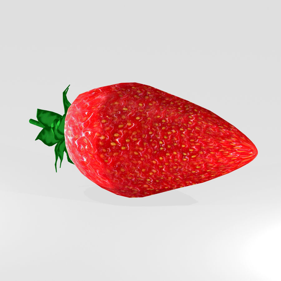 Strawberry royalty-free 3d model - Preview no. 1