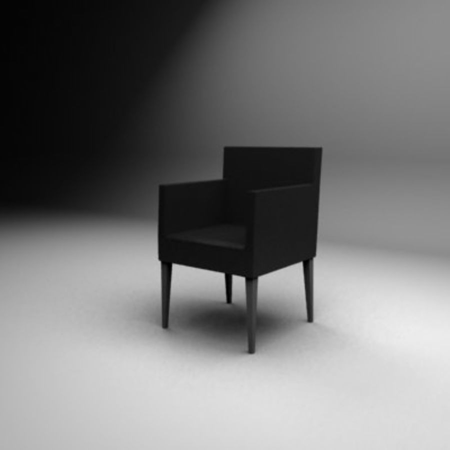 Black leather chair royalty-free 3d model - Preview no. 1