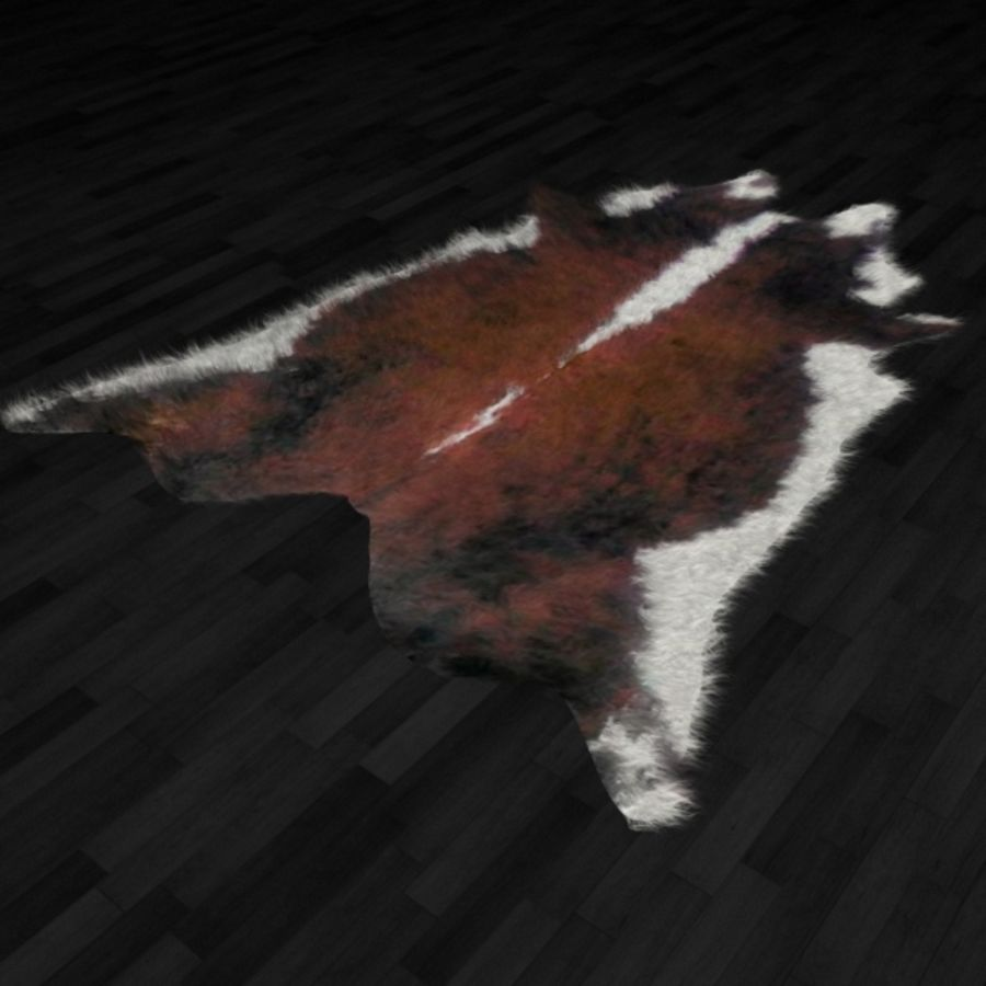 Alfombra piel animal N3 royalty-free modelo 3d - Preview no. 2
