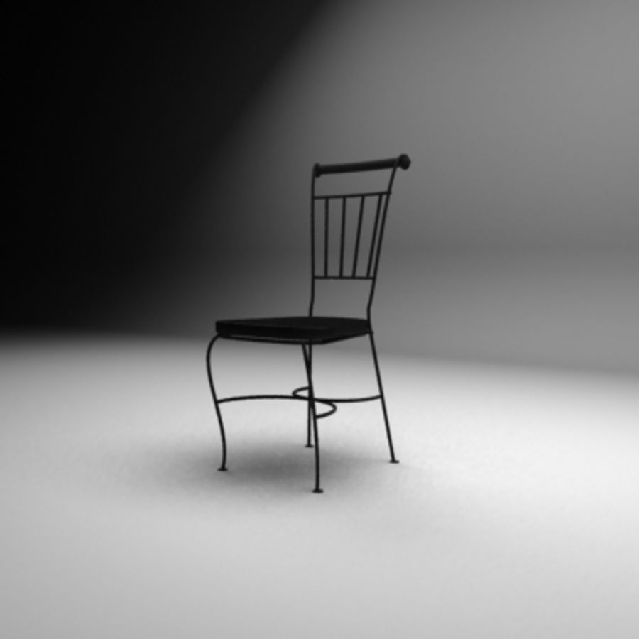 Black coffe chair royalty-free 3d model - Preview no. 1