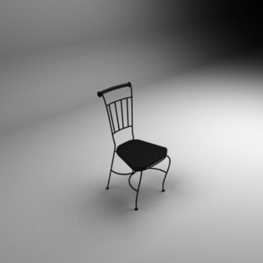Black coffe chair royalty-free 3d model - Preview no. 2