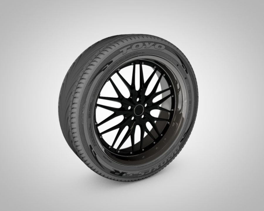 Tire with rim royalty-free 3d model - Preview no. 1