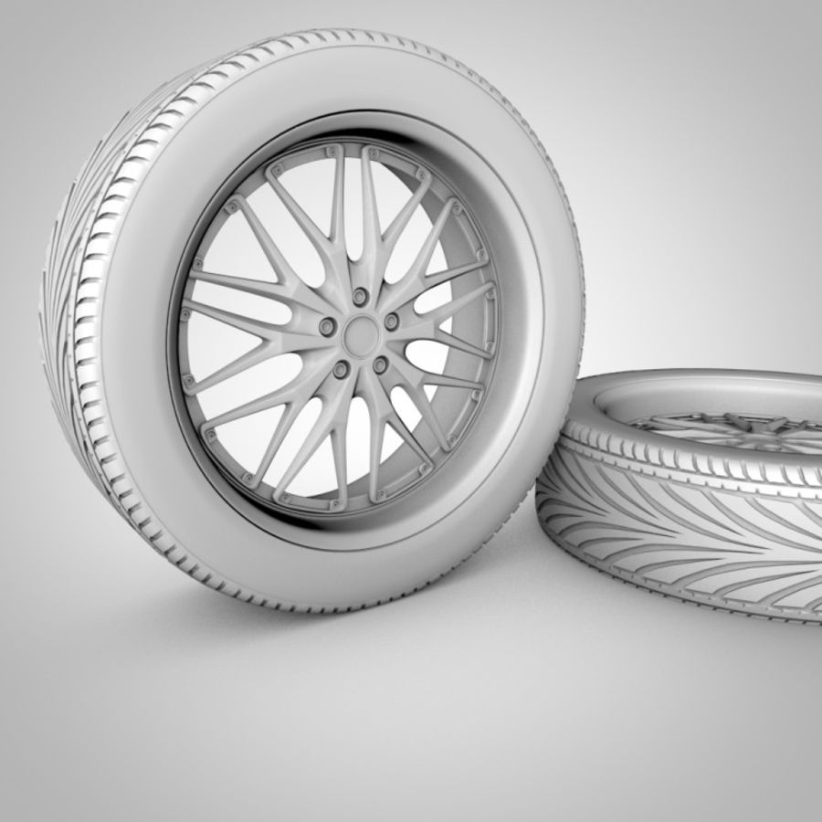 Tire with rim royalty-free 3d model - Preview no. 3