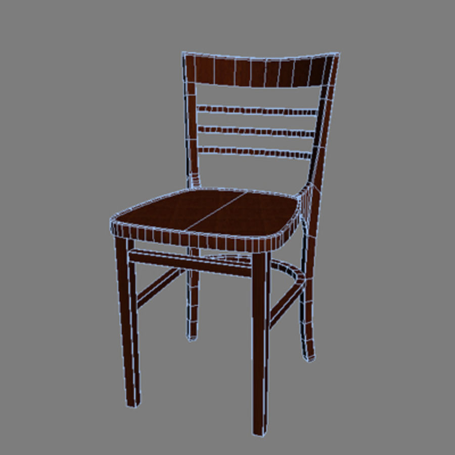 Bahamas Chair royalty-free 3d model - Preview no. 3
