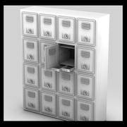 metal bank lockers 3d model