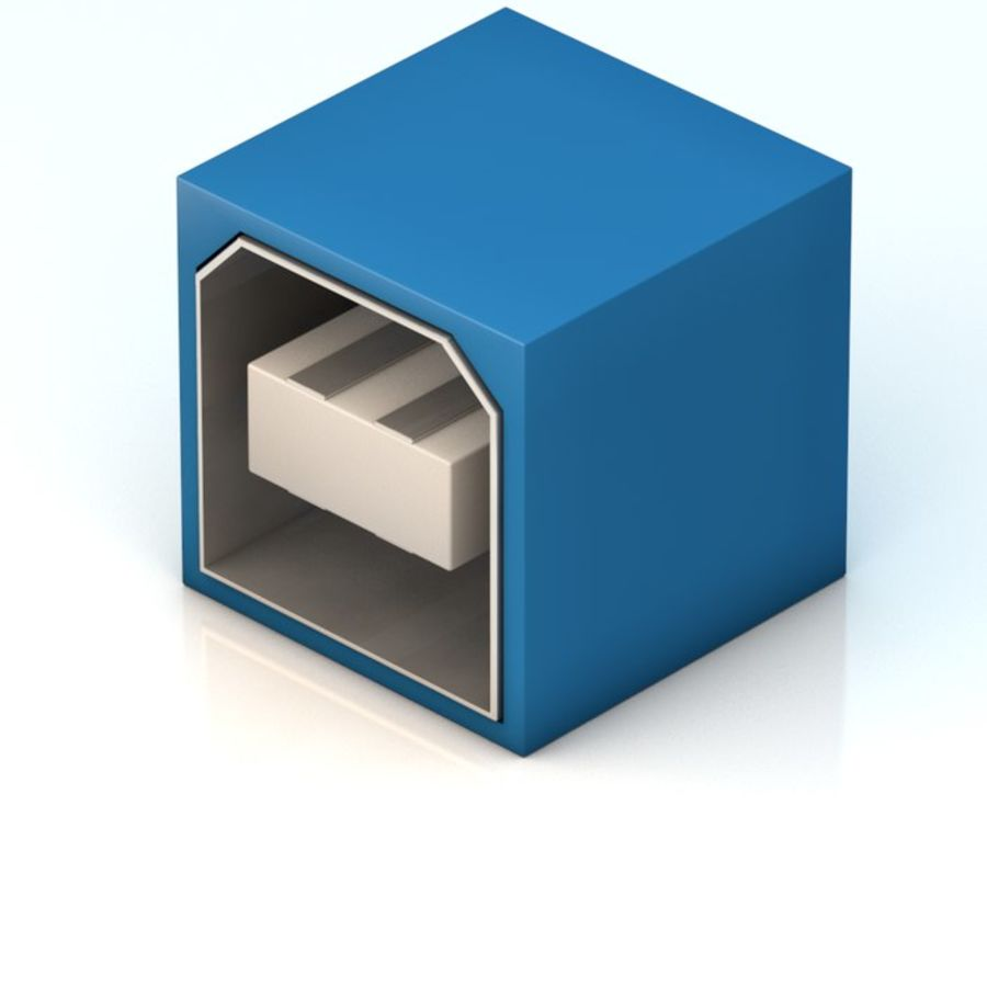 USB port royalty-free 3d model - Preview no. 1