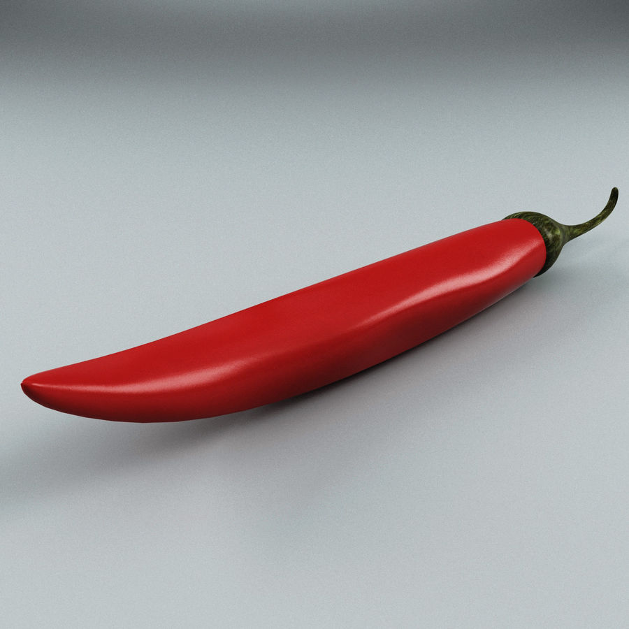 Pepper Hot Chilly royalty-free 3d model - Preview no. 4