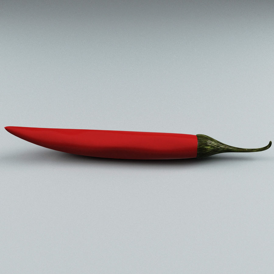 Pepper Hot Chilly royalty-free 3d model - Preview no. 3