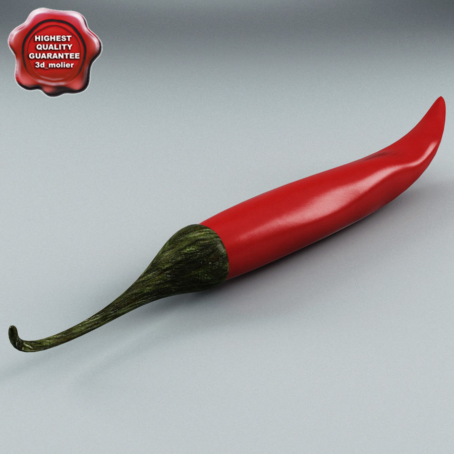 Pepper Hot Chilly royalty-free 3d model - Preview no. 1