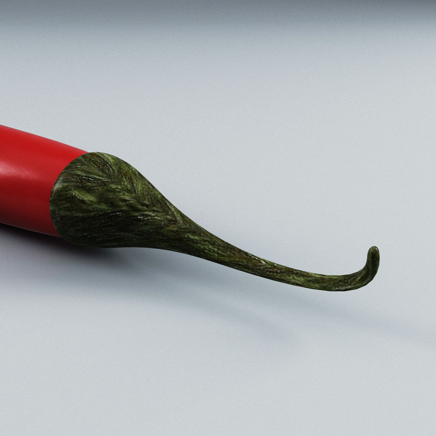 Pepper Hot Chilly royalty-free 3d model - Preview no. 5