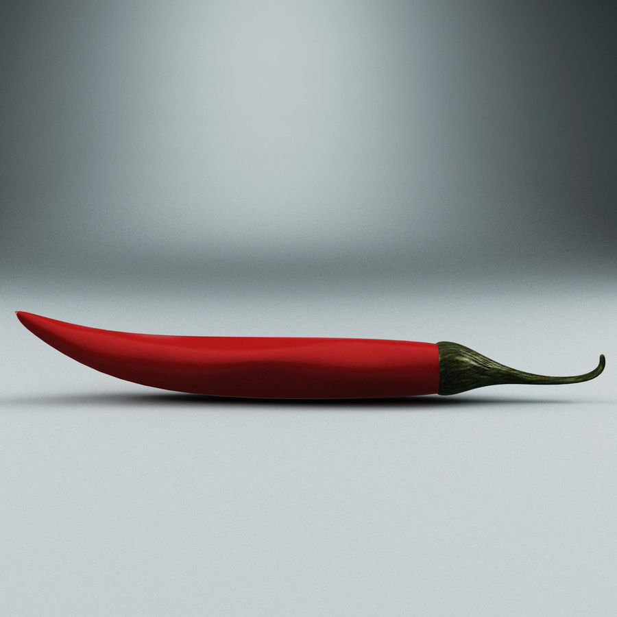 Pepper Hot Chilly royalty-free 3d model - Preview no. 2