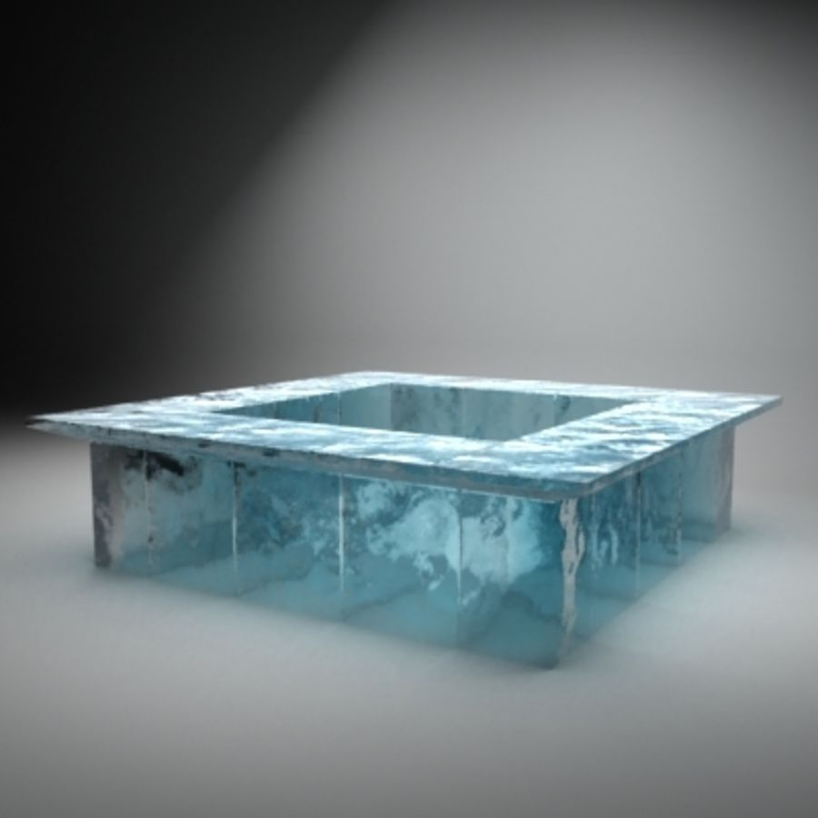 Bar from ice royalty-free 3d model - Preview no. 2