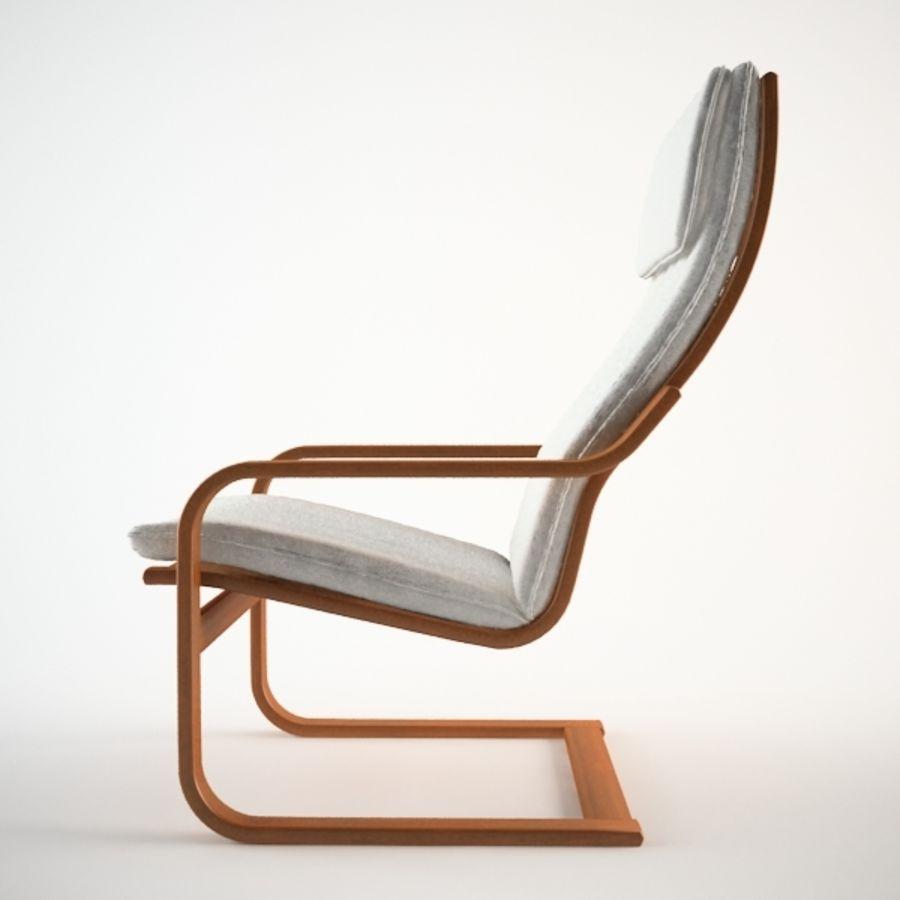 Ikea Poang Chair 3d Model 15 Obj 3ds Max Free3d