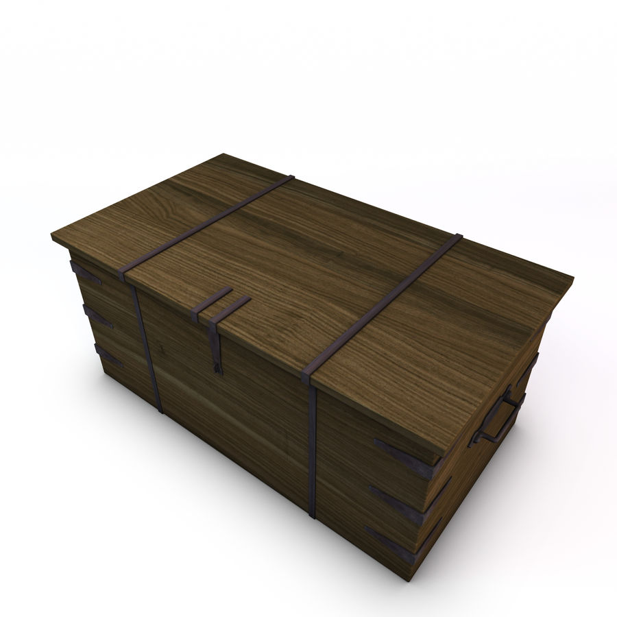 Old Trunk royalty-free 3d model - Preview no. 3