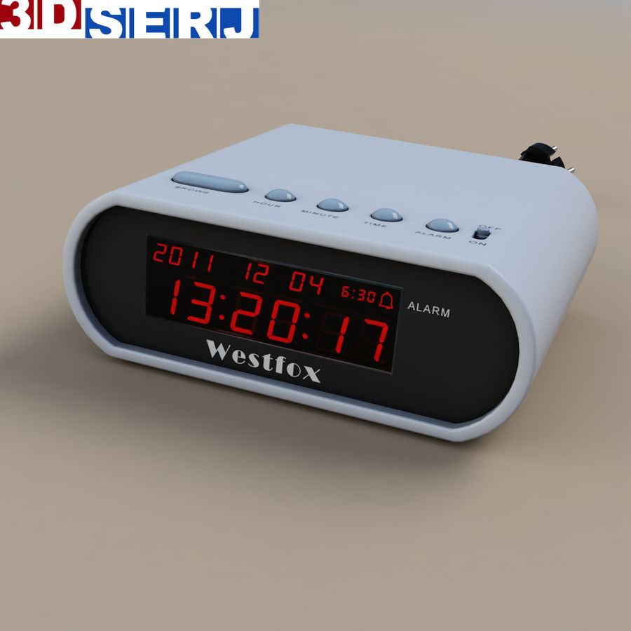 digital clock royalty-free 3d model - Preview no. 1