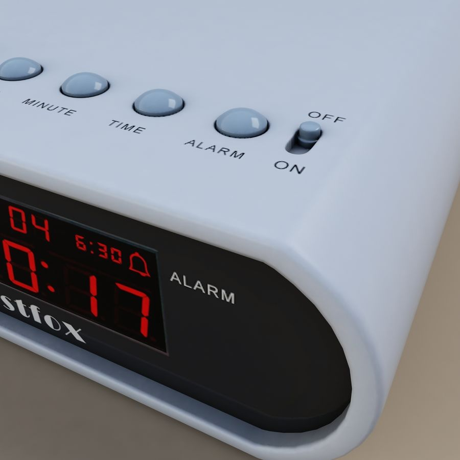 digital clock royalty-free 3d model - Preview no. 3