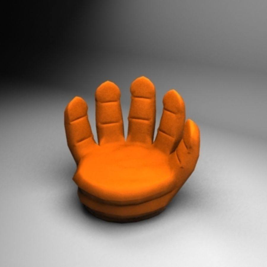 Hand couch royalty-free 3d model - Preview no. 1