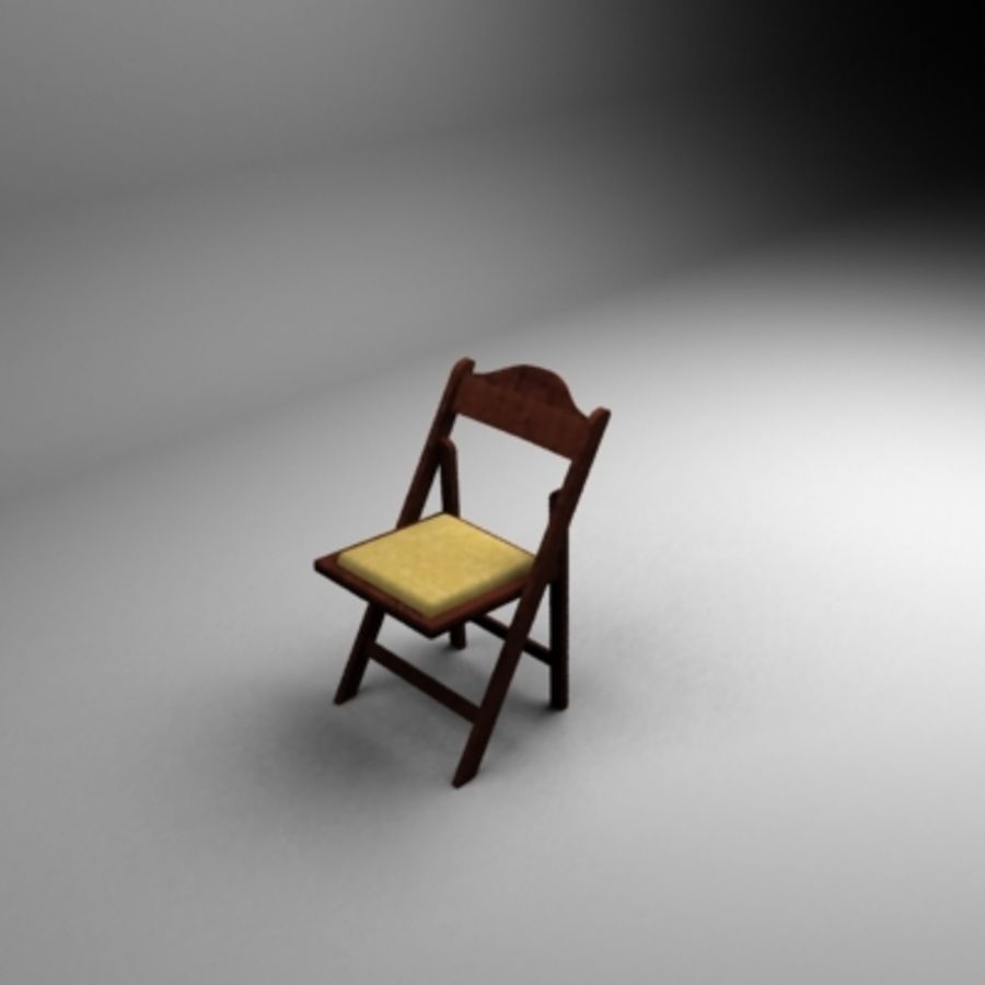 Garden Flip Chair royalty-free 3d model - Preview no. 2
