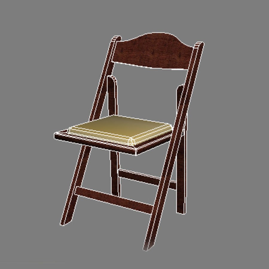Garden Flip Chair royalty-free 3d model - Preview no. 3