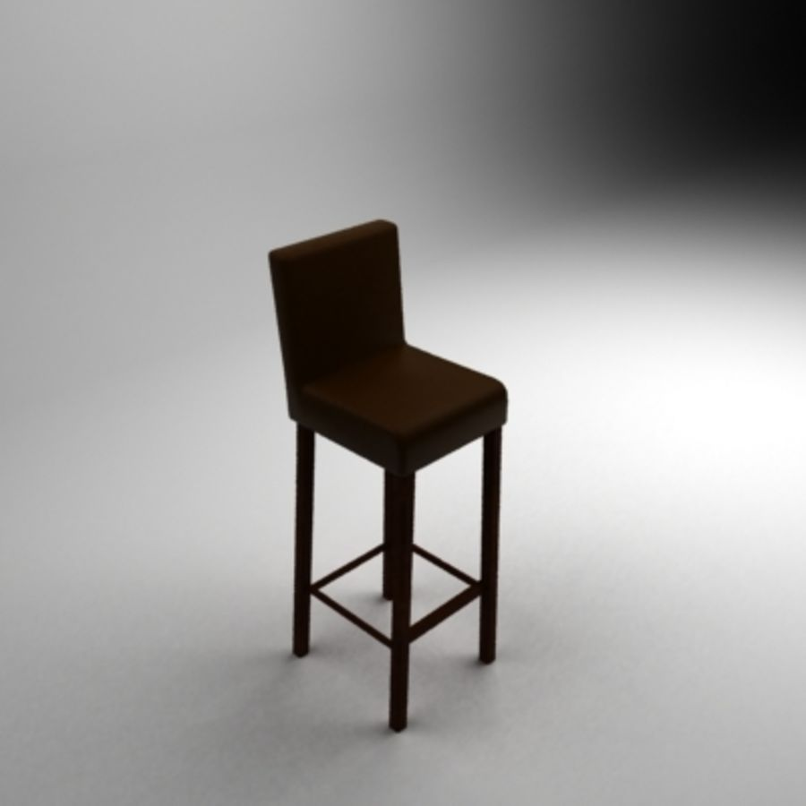 Leather bar chair royalty-free 3d model - Preview no. 1