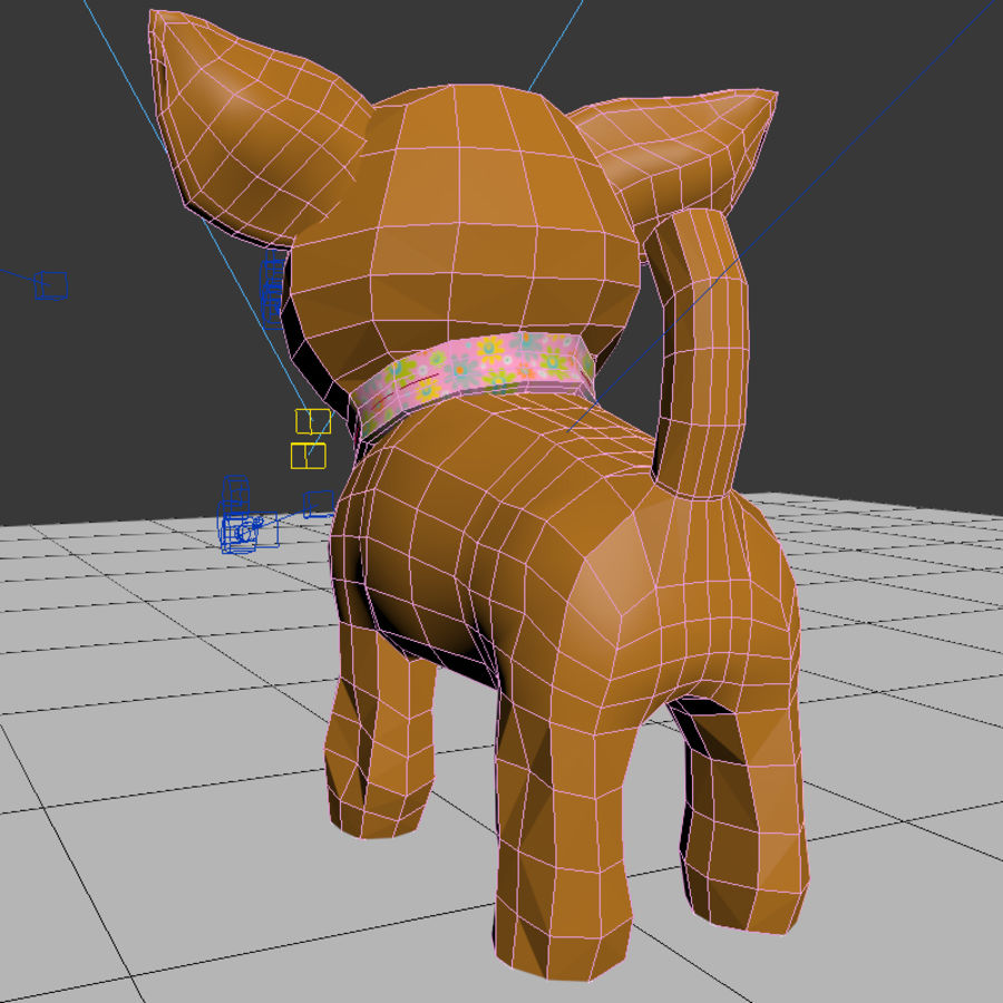 dog soft toy realistic royalty-free 3d model - Preview no. 11