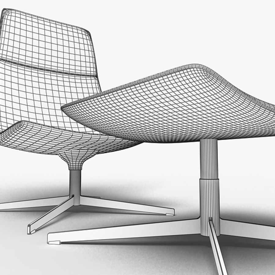 Catifa 70 Lounge Chair royalty-free 3d model - Preview no. 6