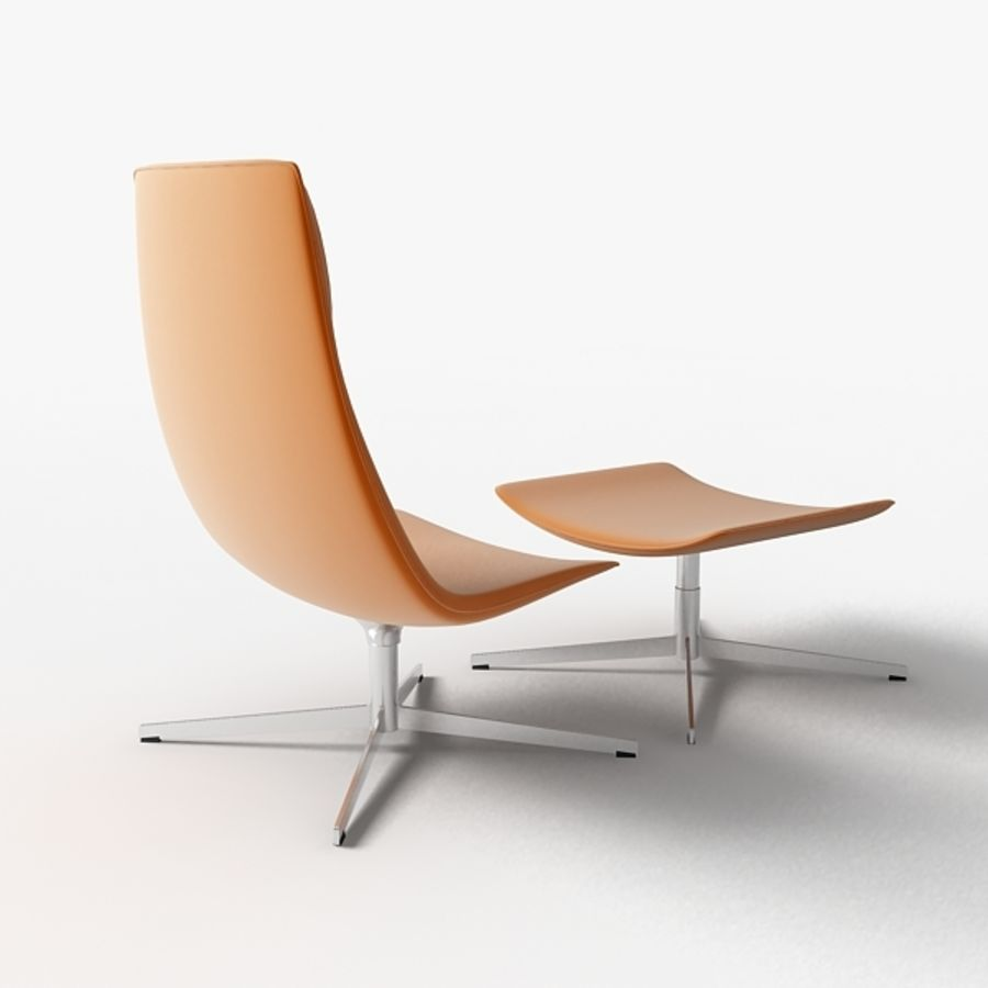 Catifa 70 Lounge Chair royalty-free 3d model - Preview no. 1