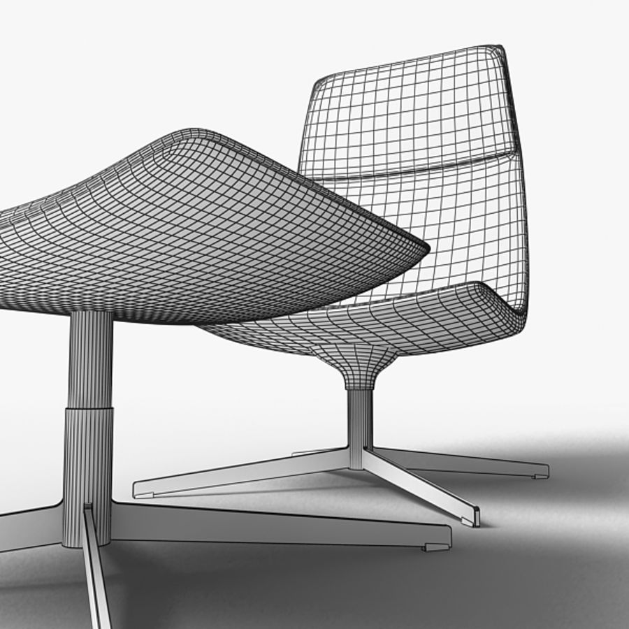 Catifa 70 Lounge Chair royalty-free 3d model - Preview no. 7
